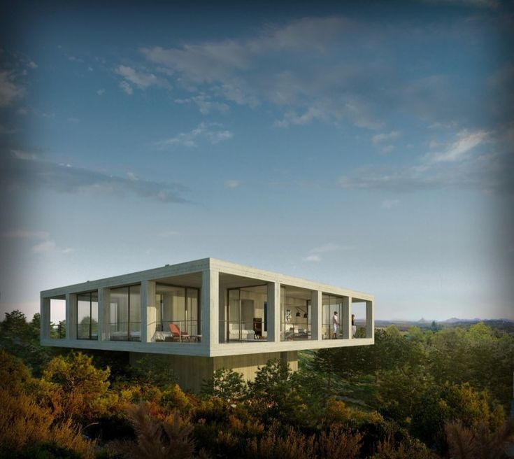 Casa Pezo – Solo Houses by Pezo Von Ellrichshausen Architects: Pezo Von, Trees Houses, The View, Modern Architecture, Solo Houses, Concrete Houses, Catalonia Spain, Of Ellrichshausen, Ships Container Home