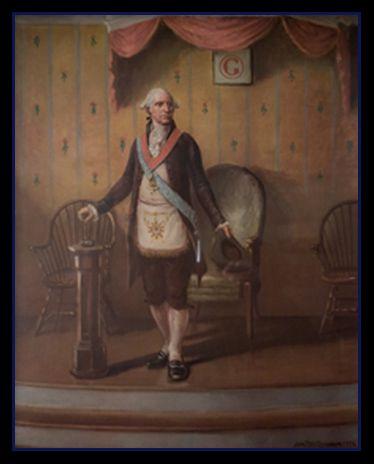 George Washington as Worshipful Master in the Masonic Temple