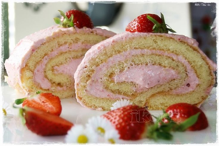 Erdbeerrolle     Ofen auf 175°Grad vorheizen      Bisquit:     Schmetterling einsetzen!!!     4 Eier   160 g Zucker     10Min./50°/St. ...