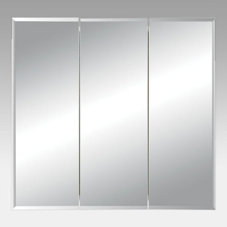 jensen medicine cabinet horizon triple door 48w x 2825h in surface mount medicine cabinet