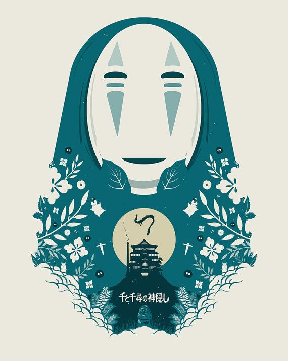 Spirited Away papercut style print spirited away by bigbadrobot