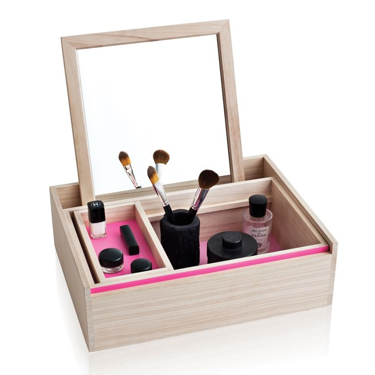 Balsabox Personal Sminklåda from Nomess #rose #pink #red #valentines #heart #makeup #mirror