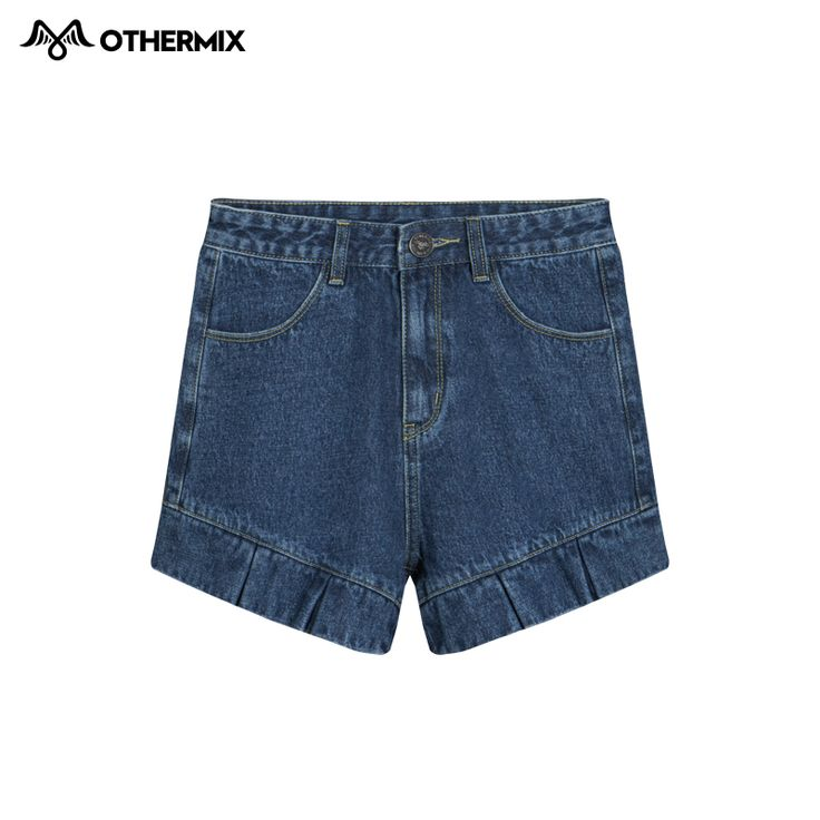 Othermix 2016 весной новые завышенной талией плиссированные шорты мыть стороны старинные джинсовые шорты женщинакупить в магазине OTHER MIXнаAliExpress