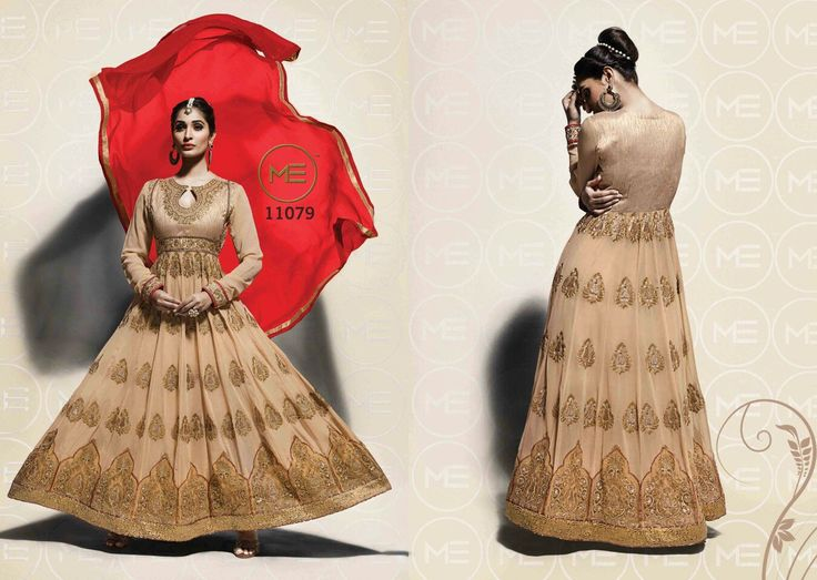 Golden designer #partywear  salwar suits online that suitable to your fashion and style. Every girl want to wear