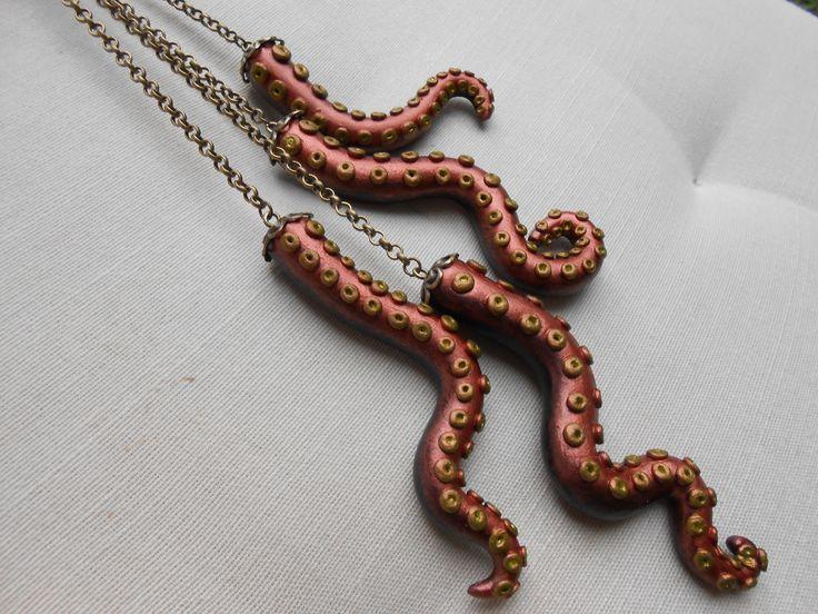 """RÉSERVÉ à Loreleï Sautoir """"pêche miraculeuse"""" en métal couleur bronze : Collier par jennifleur"""