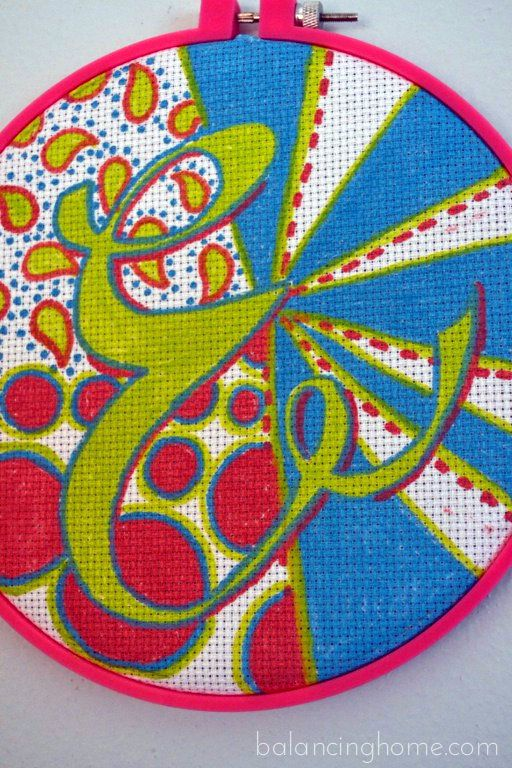 <3! embroidery hoop art - paint pen painted cross stitch fabric framed in embroidery hoop - too too cute idea!: Crafts Ideas, Cute Ideas, Cross Stitch, Embroidery Hoop