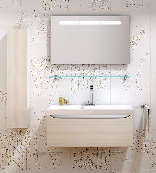 Мебель для ванной Aqwella 5 stars Верона 100 акация купить в магазине Сантехника-онлайн.Ру