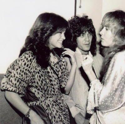Eddie Van Halen, Valerie Bertinelli and Stevie Nicks in 1981 - 2 of my favorite gals together!