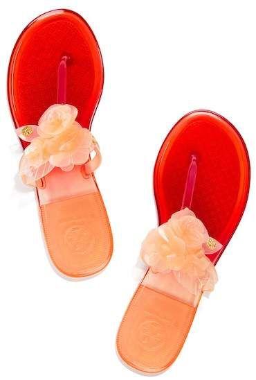 fed6c90fa302e9 Tory Burch Blossom Jelly Thong Sandal