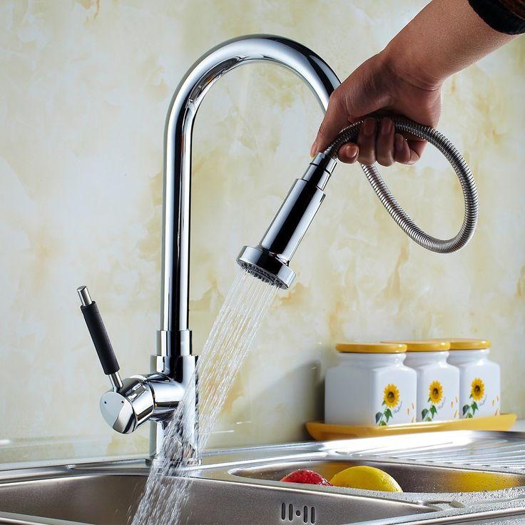Auralum® Elegant Einhebel Herausziehbare Küchenarmatur Spültisch Armatur  Wasserhahn Brause Einhandhebelmischer Mit Keramikkartusche: Amazon.