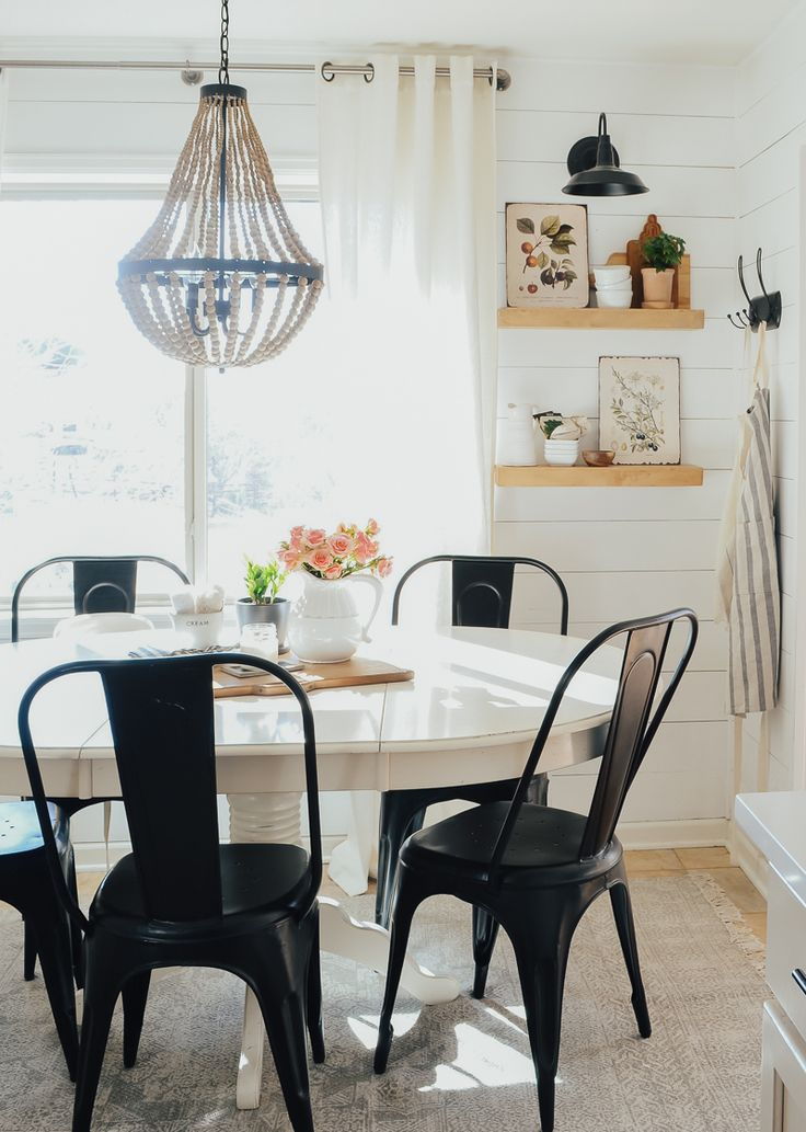 Spring Decor in the Breakfast Nook Sarah Joy Blog in