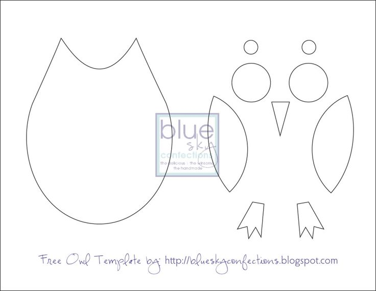 Owl Template printable. Just cut these out for the kids to put together like a puzzle.