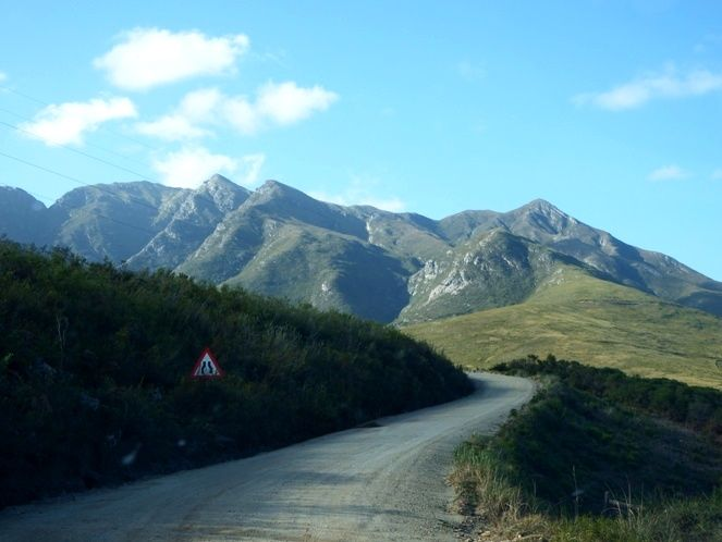 The start of Montagu Pass