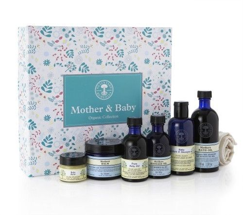 NYR Organic Mother & Baby Collection $80 The perfect present for that new mother!  This luxurious organic collection is made with pure skin-nourishing oils, butters and herbs, infused with calming aromatherapy essential oils, to soothe the soul and pamper delicate skin. Safe for use during pregnancy and on baby's delicate skin. https://us.nyrorganic.com/shop/everygoodthing/area/shop-online/category/mother-and-baby/product/7264/mother-and-baby-organic-collection/