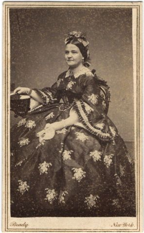 Photograph of Mary Lincoln, taken by Matthew Brady in 1861