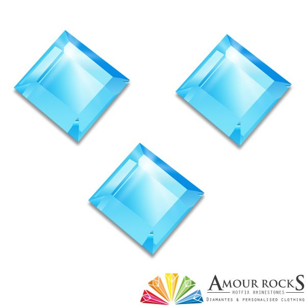 Princess Aquamarine Hotfix Rhinestone Shapes - Amour Rocks UK
