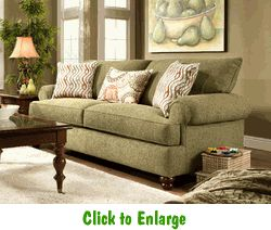 Salute Herb Sofa By Corinthian At Furniture Warehouse | The $399 Sofa Store  | Nashville,