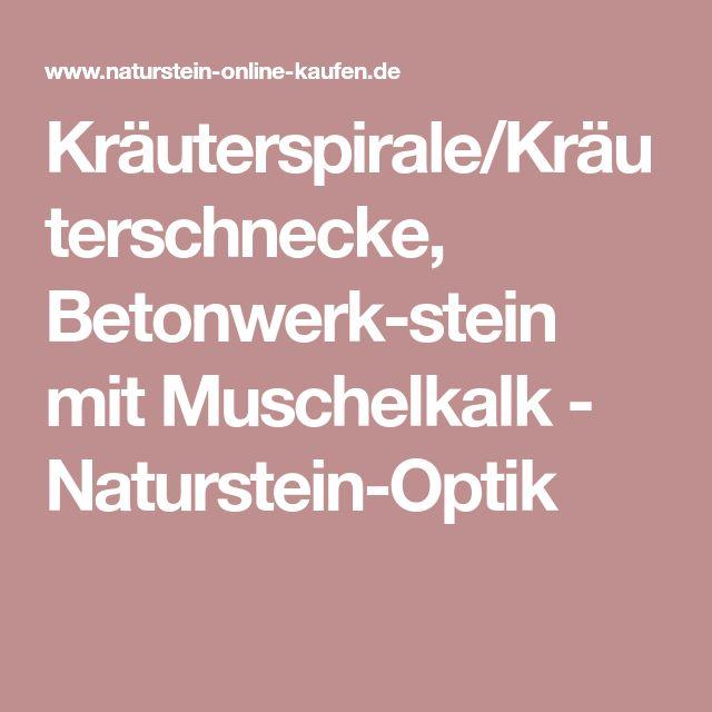 Kräuterspirale/Kräuterschnecke, Betonwerk-stein mit Muschelkalk - Naturstein-Optik