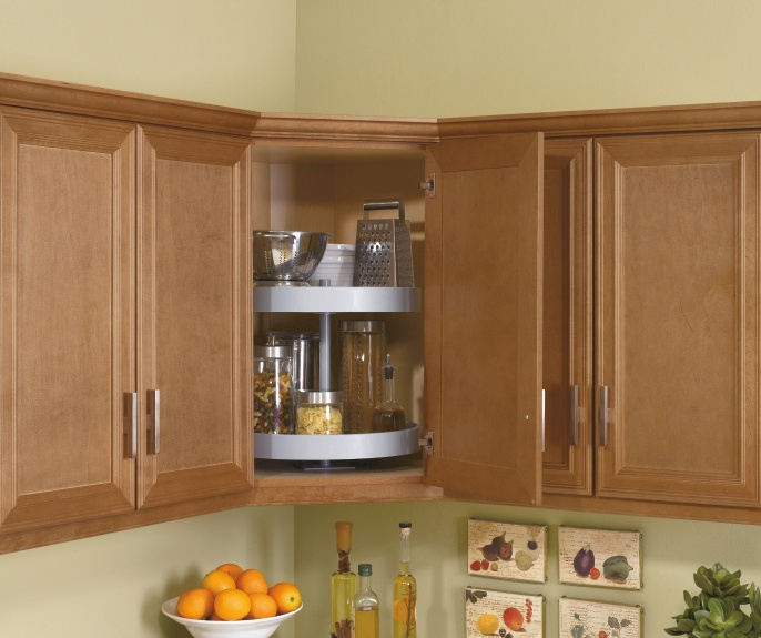 Why Struggle To Find The Things You Need In A Larger Corner Cabinet Kitchen Craft Makes This