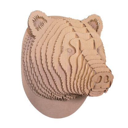 how to make cardboard animal heads