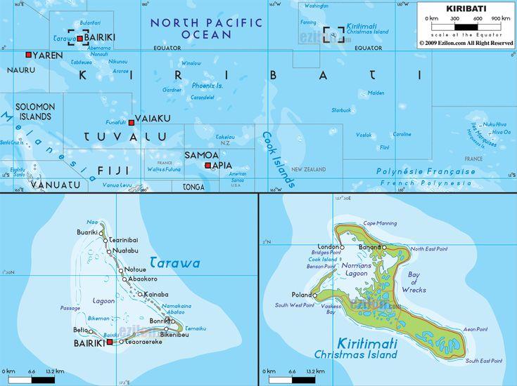 Best Kiribati Map Ideas On Pinterest Kiribati Island Tarawa - Kiribati map
