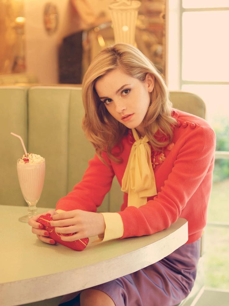 Emma Watson at the Malt Shop