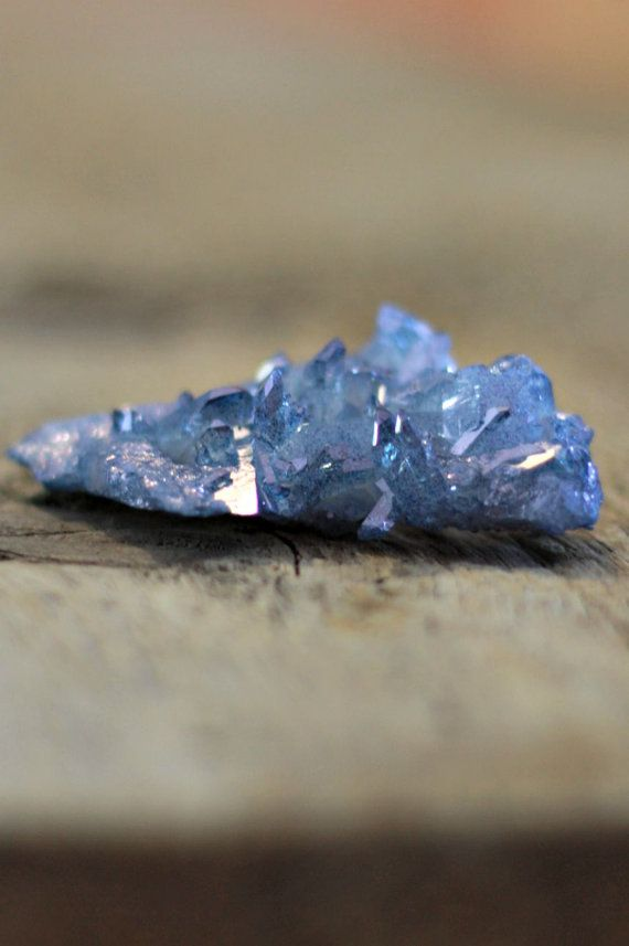 Celestial blue aura quartz cluster aura by LaShopLegendaire