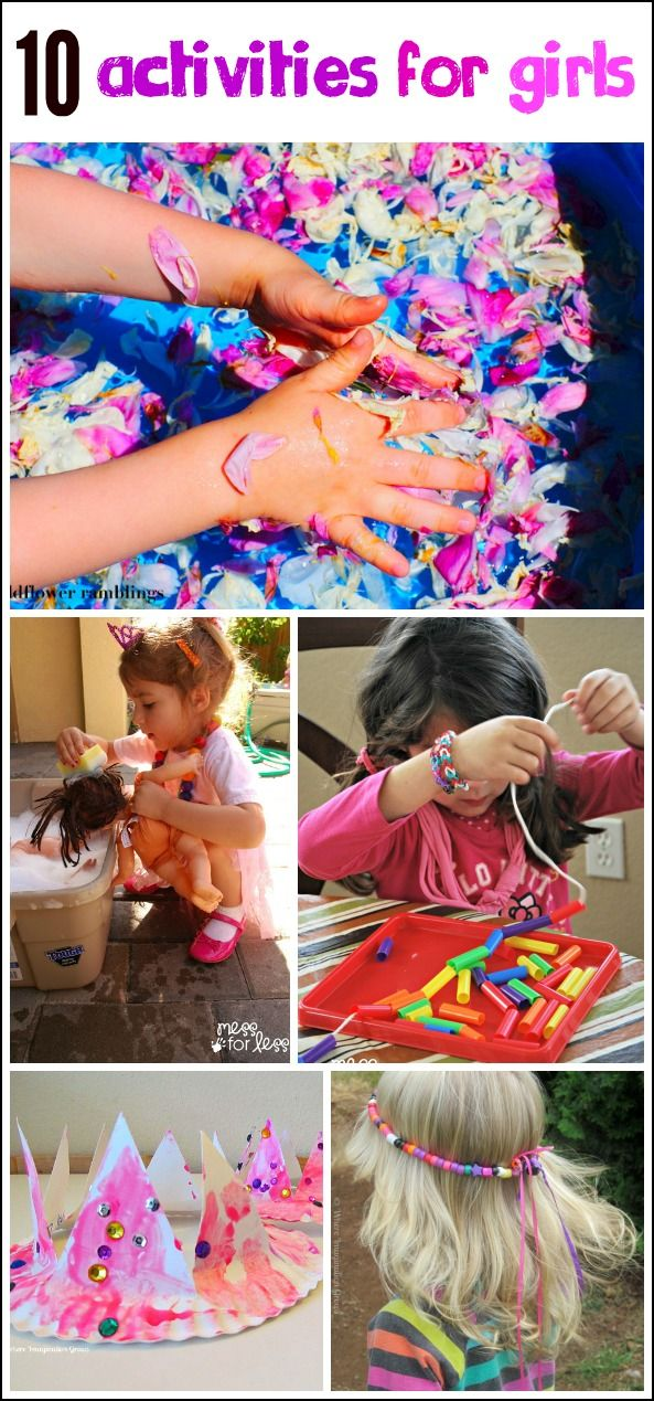 10 Fun Girl Games, Crafts and Activities - Ways to keep girls busy and having fun. Boys will love these too!
