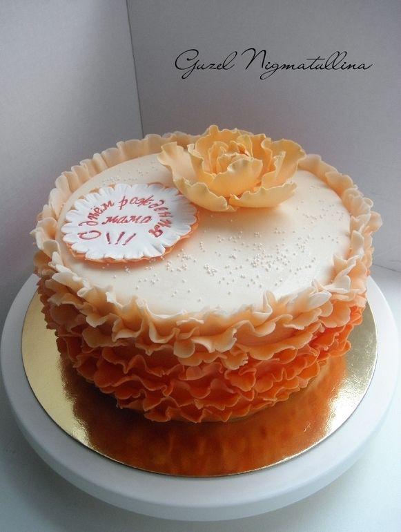 Торт с рюшами фото