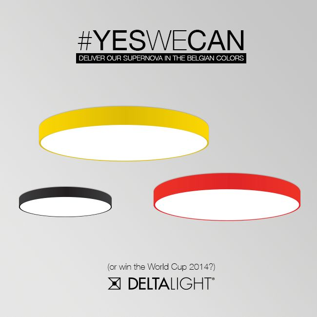#YESWECAN! On request, our Supernova can be ordered in any available RAL color. So yes, you can have your own set of Belgian Supernova's for your project! How cool is that!? http://goo.gl/rfhJU4 (Don't forget to support us on saturday for the quarter finals!) #WorldCup2014 #BelArg #Belgium #RedDevils #TousEnsemble