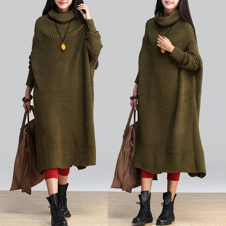 Wool Loose Army Green Sweater