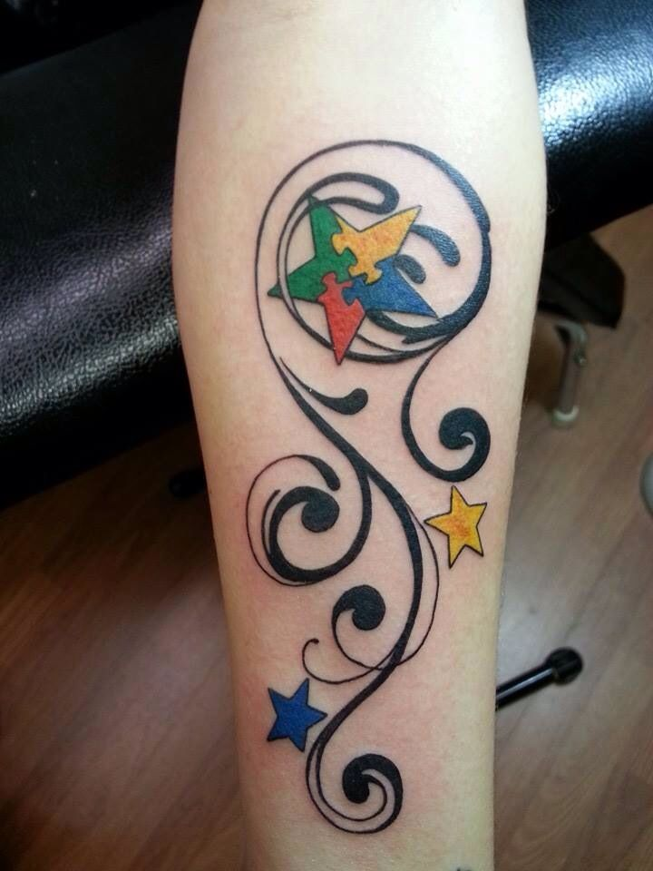 My new Autism Tattoo for my daughter Kendall!! Spread awareness!!!