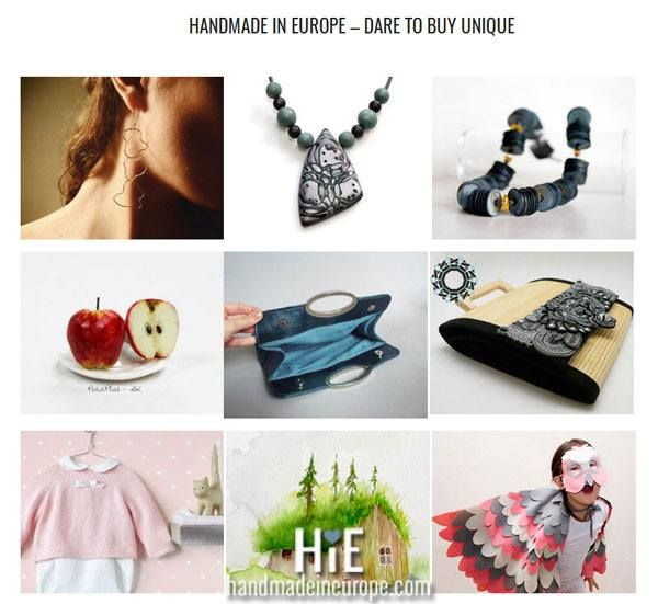 Dare to buy unique on Handmade in Europe, support the local artists