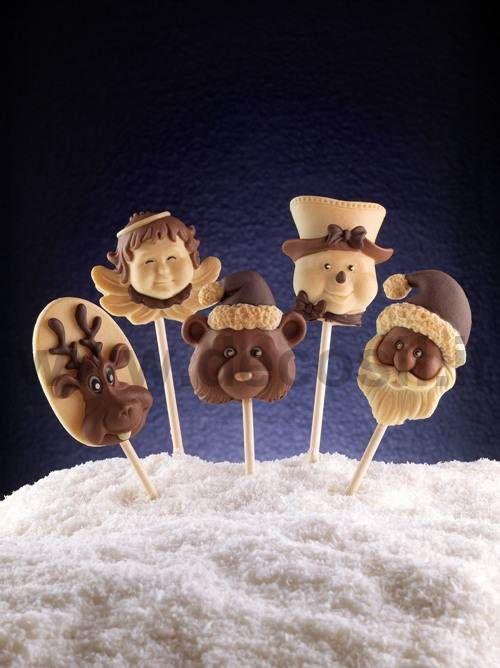 Stampi decosil per creare cioccostecchi pralinati. www.decosil.it #cioccolato #natale