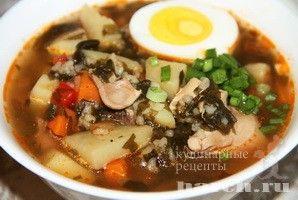Суп со щавелем и рисом Залесецкий, supy pervye blyuda
