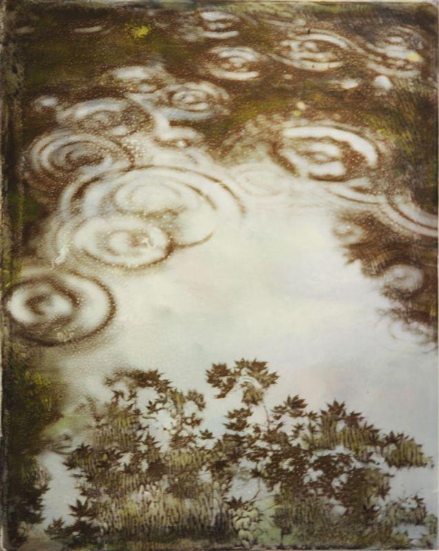 Julie Shackson - It rained in Cefn Onn                    Artist  - Juju's Fybercafe