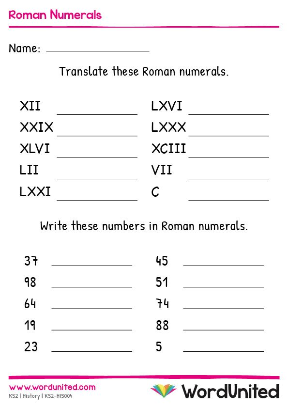 Roman Numerals Wordunited Roman Numerals Writing Practice Sheets Mental Maths Worksheets