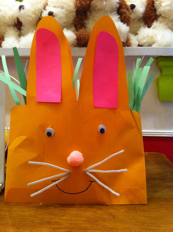 Bunny baskets made from envelopes