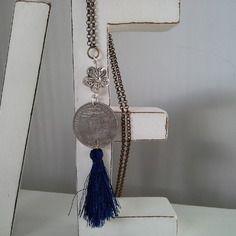 Collana vintage con moneta