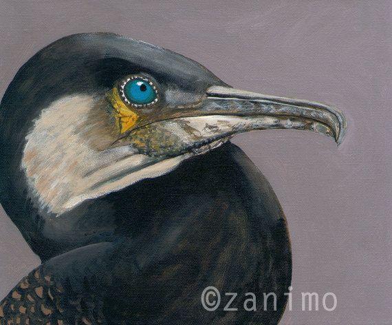 Cormorant  Cormoran by Zanimo on Etsy