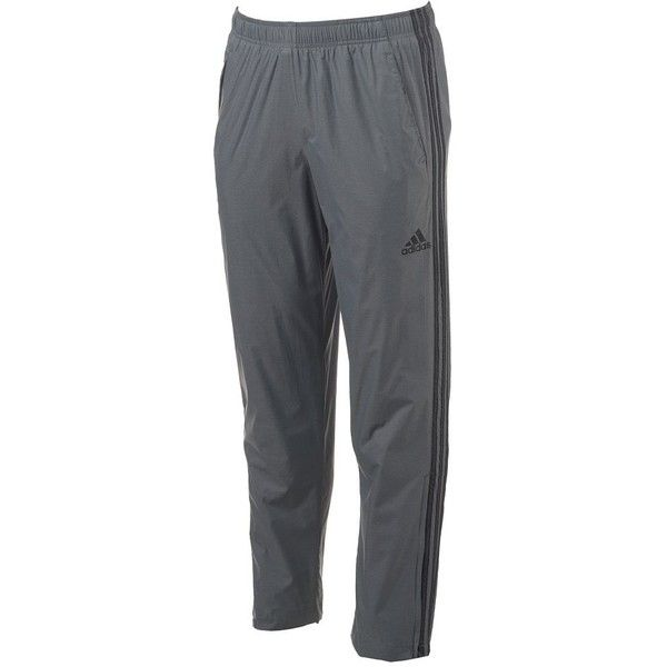Big & Tall Adidas Woven Track Pants ($37) ❤ liked on Polyvore featuring men's fashion, men's clothing, men's activewear, men's activewear pants, med grey, mens activewear pants, mens activewear and mens track pants