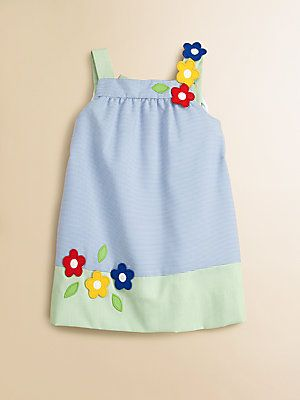 Florence Eiseman Toddler's & Little Girl's Striped Floral Dress