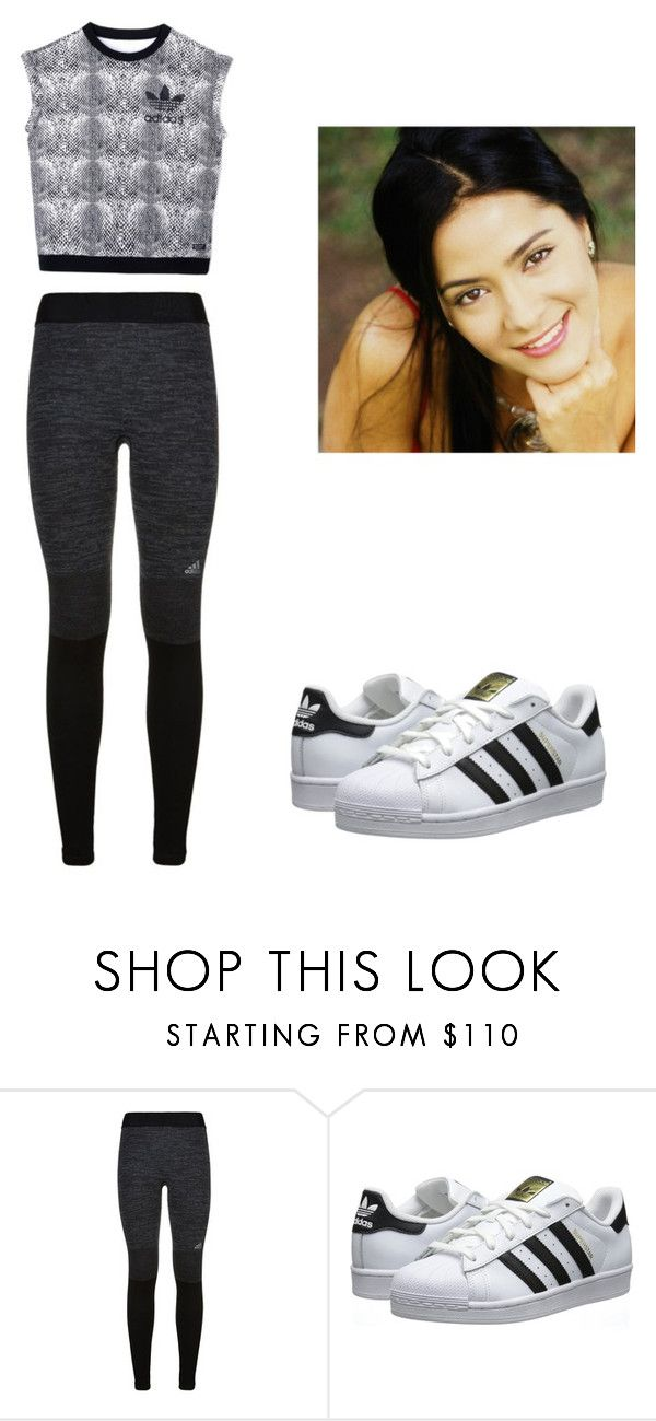 """gym"" by escarletmix14 on Polyvore featuring Belleza, adidas y adidas Originals"
