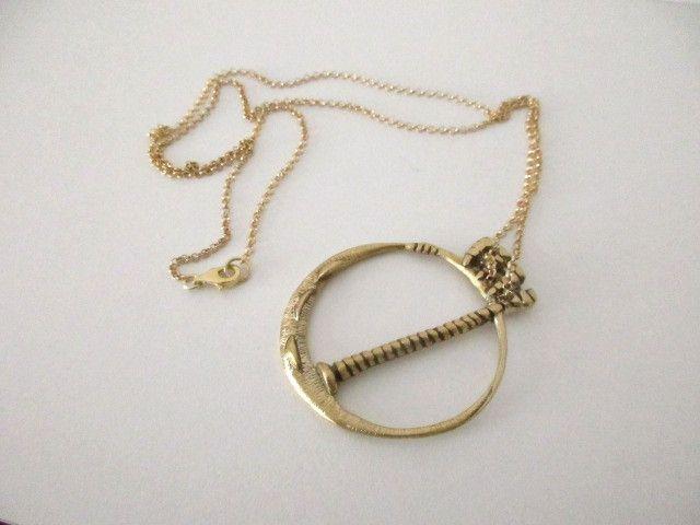 collana con ciondolo in ottone di Loreart - Creare gioielli è un'arte su DaWanda.com