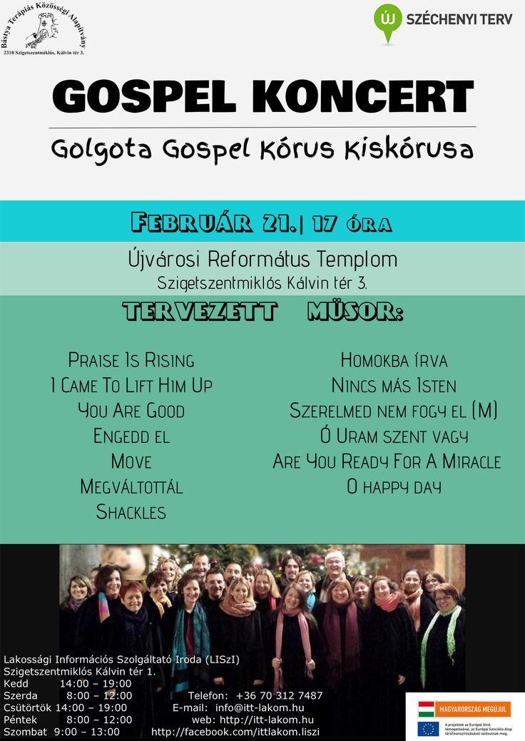 Saját plakátok ||  Gospel koncert  []   My posters, event flyers || Gospel concert