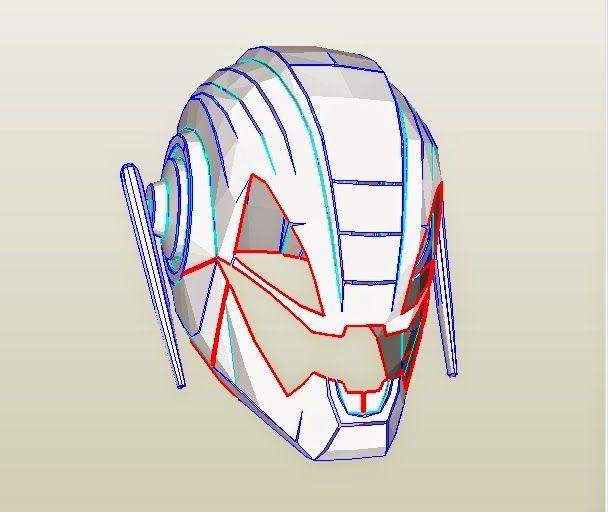 basic deathstroke mask template pdf
