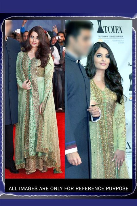 Wedding Aishwarya Rai Bachchan Bridal Embroidered Bollywood replica Lehenga