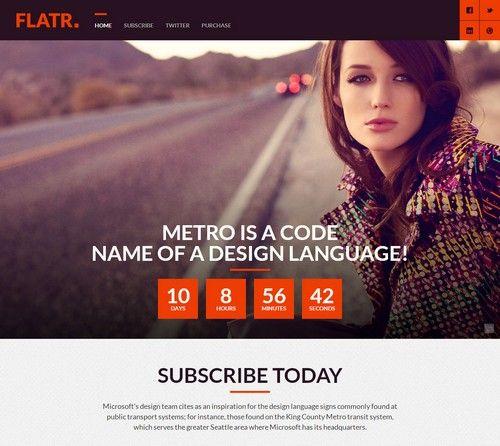 Flatr Metro Parallax Multipurpose Coming Soon Template
