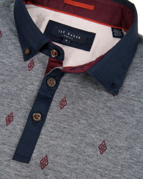 Embroidered polo - Navy   Tops & T-shirts   Ted Baker UK