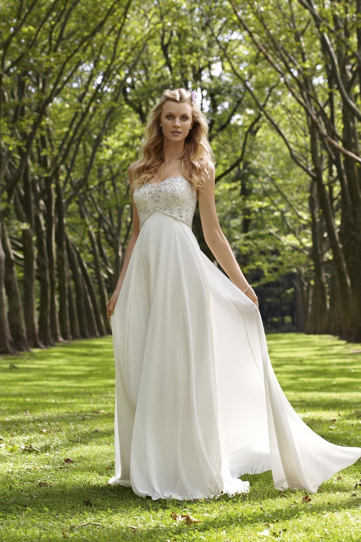 Mori Lee - Voyage    TAGS:Empire line, Floor-length, Strapless, Train, White, Ivory, Mori Lee, Glamour,